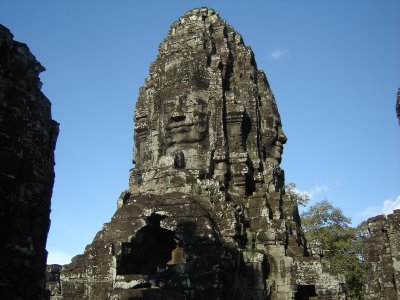 Above: One of the towers in Bayon
