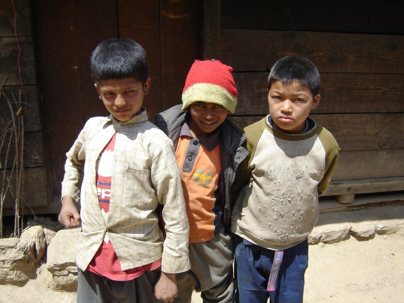 Above: some local Nepalese kids who insisted on having their photo taken