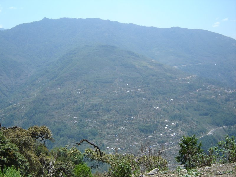 Above: A view of typical Nepalese farming countryside.
