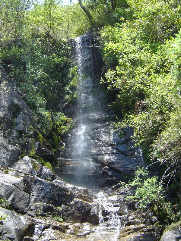 Above: One of the many waterfalls that bisect the paths along the way.