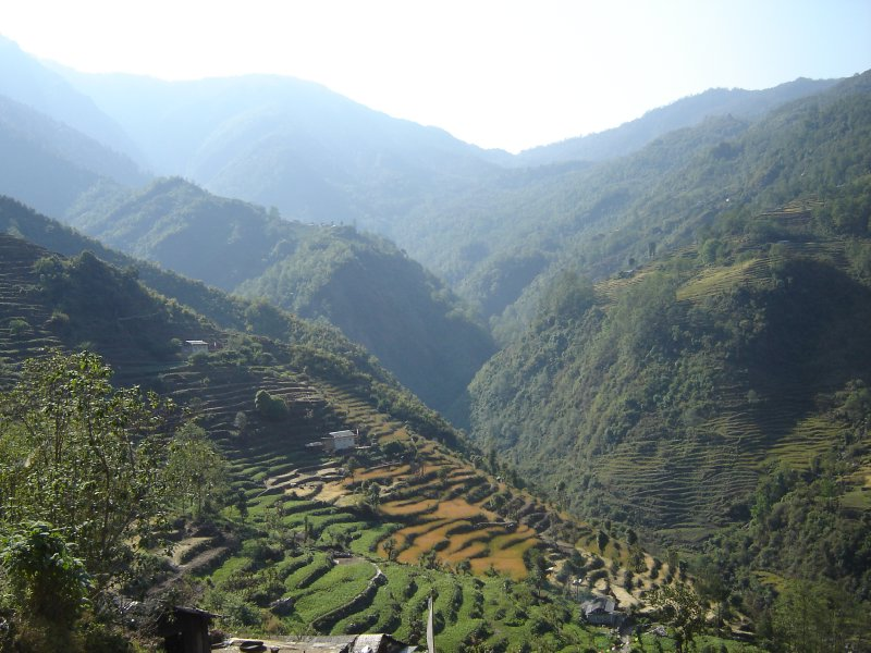 Above: Another picture of the beautiful Nepalese countryside.