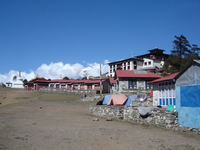 Above: The monastery in Tengboche.