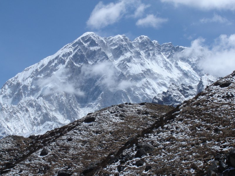 Above: The impressive Nuptse face.