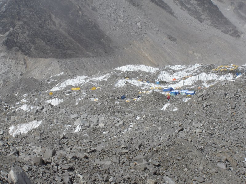 Above: A better view of Everest Base Camp.