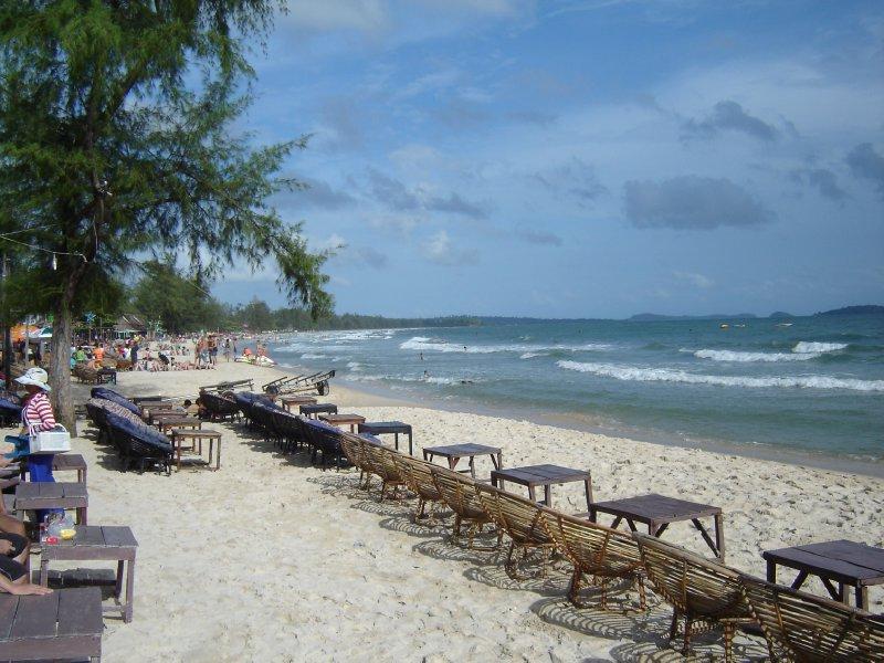 Above: Ochheuteal Beach, Sihanoukville.