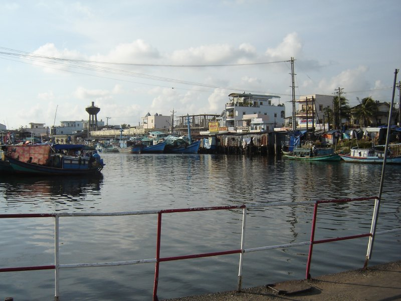 Above: The fishing harbour in Duang Dong.
