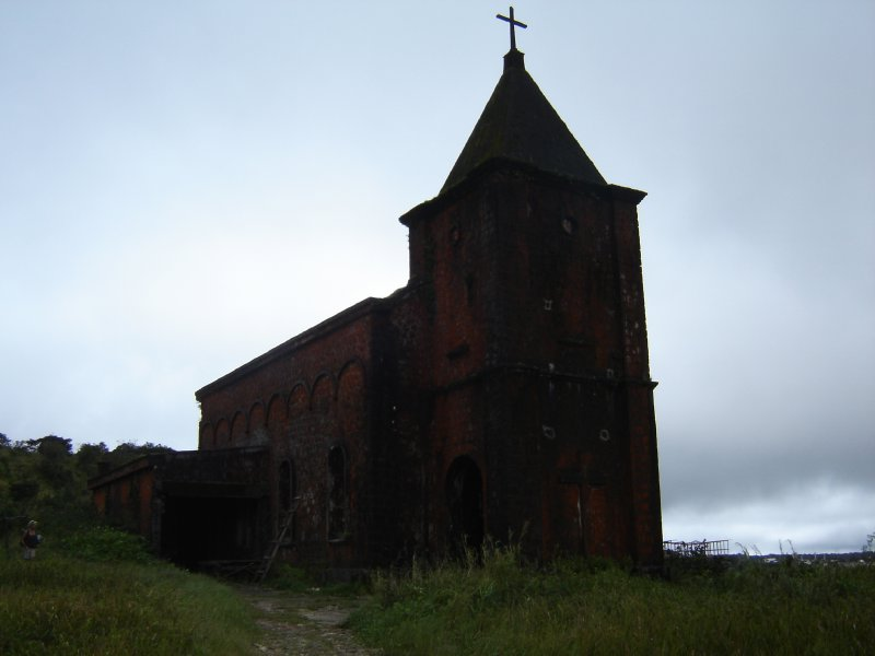 Above: The derelict church. It's quite hard to see as it was overcast at the time the photo was taken.