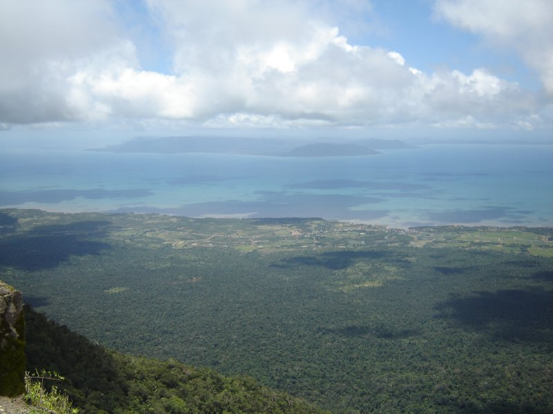 Above: View from Bokor Mountain with Phu Quoc Island in the distance.