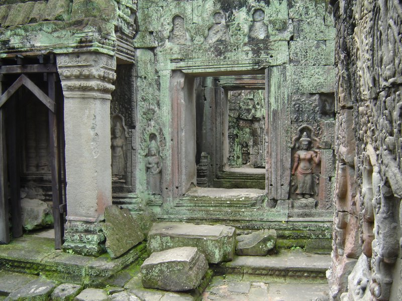 Above: Incredible carvings in the interior of Preah Khan.