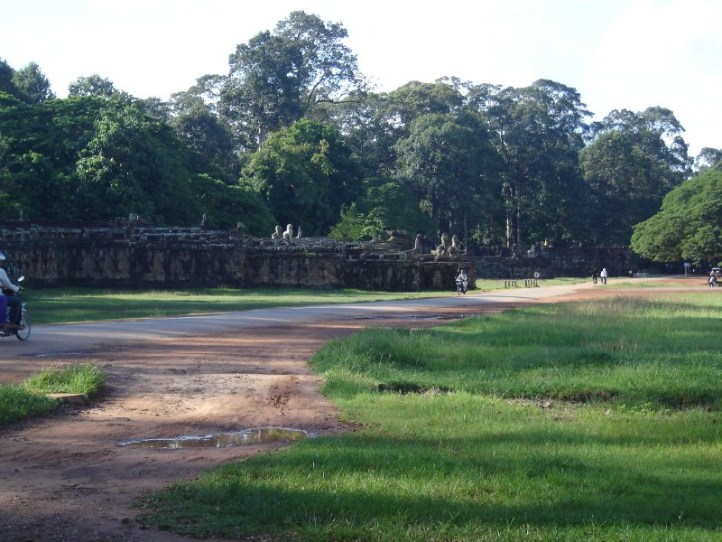 Above: The Terrace of the Elephants in Angkor Thom