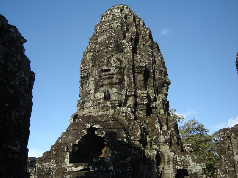 Above: One of the towers in Bayon.