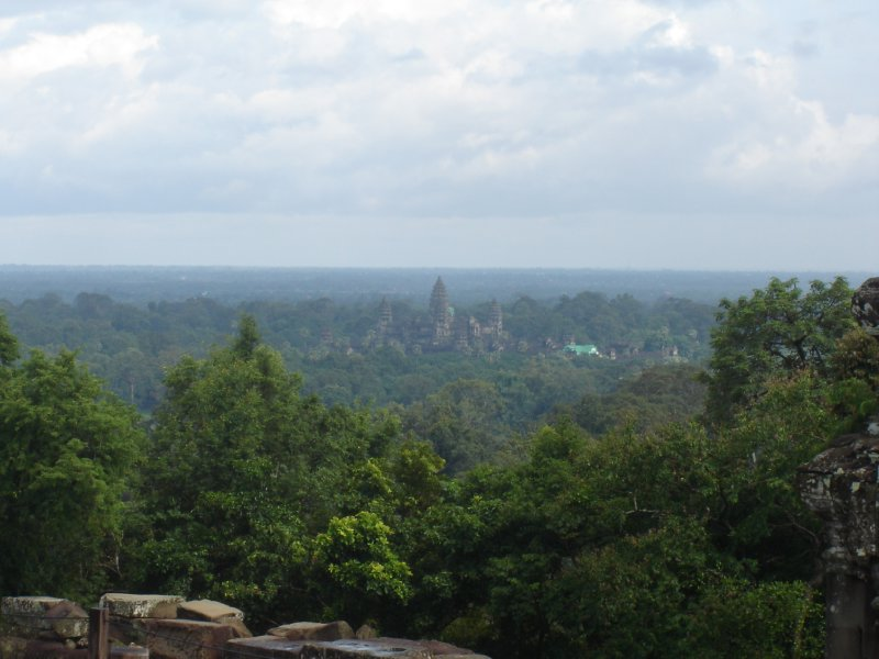 Above: Angkor Wat in the distance taken from the hill-temple Phnom Bakheng.