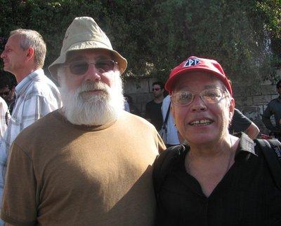 at Sheikh Jarrah Demo - with Jeff Halper