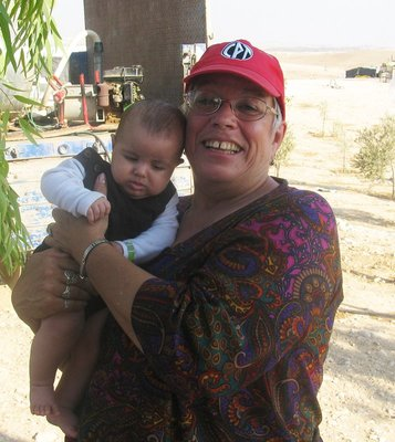 Bedouin baby, with me.