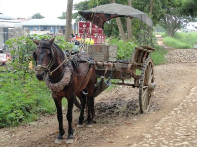 A mode of transport which is still used in Myanmar