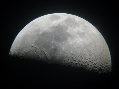 The moon through a telescope