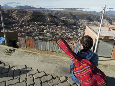 La Paz from high