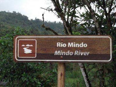 Rio Mindo sign