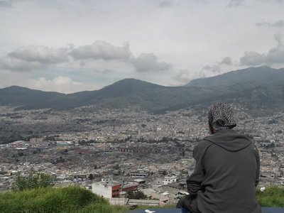 View of Quito on way to Cotopaxi