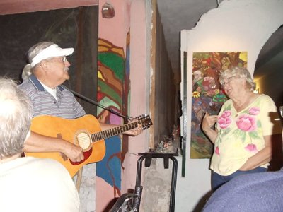 country music singers Maggie and John!