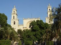 the cathedral in Merida!