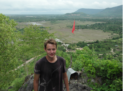 Me post-ascent, Phnom Sor Seah