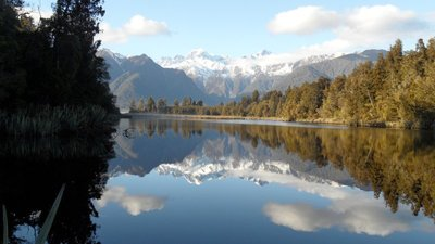 Which way is up? The reflecting pool, Lake Matheson