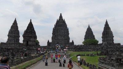 Approaching Prambanan