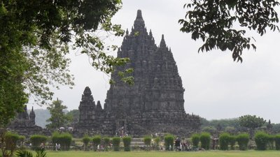 Our parting view of Prambanan