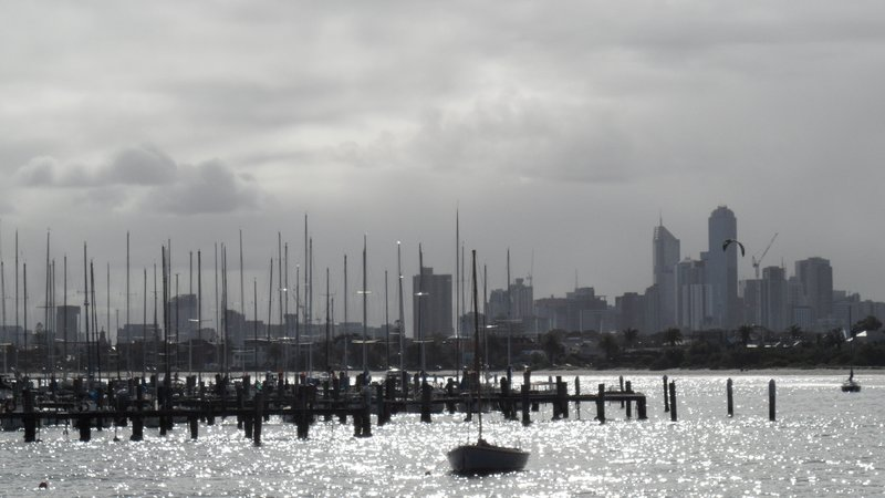CBD from St Kilda beach