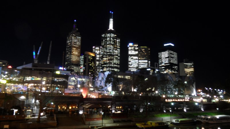 Melbourne CBD on my last night!