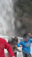 Emma's classic waterfall shot - thats me in the red top!!
