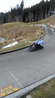 The Fool races to victory in the Queenstown luge!
