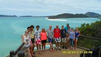 Our crew at Whitehaven Beach