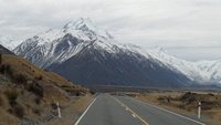 Mount Cook looms in the distance