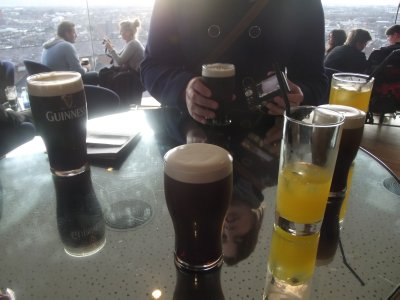 Drinks at the Guinness Storehouse