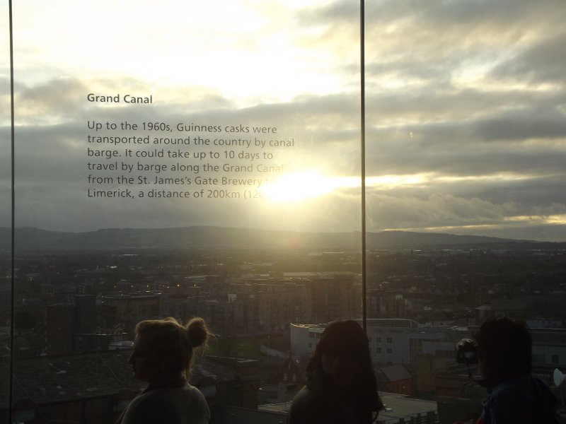 Sunset in the Guinness Storehouse