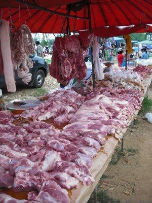 Sai Yok Market - meat