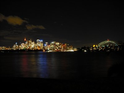 The beautiful night time view from Cremorne, NSW