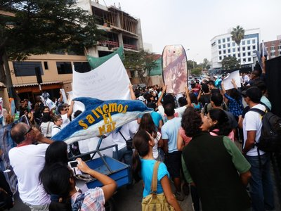 Protest march in Lima
