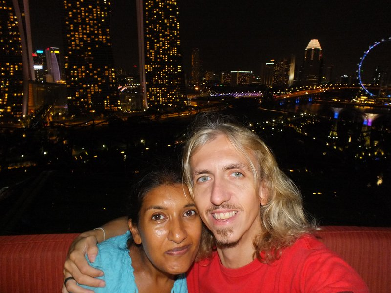 Last night in Singapore, Rooftop bar in the Marina Bay Gardens
