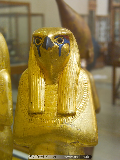 Golden statue of Horus