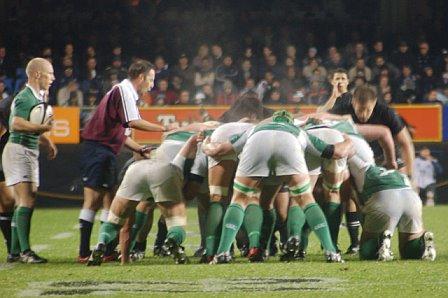 Scrum Down @ Ireland Vs All Blacks - Eden Park Auckland
