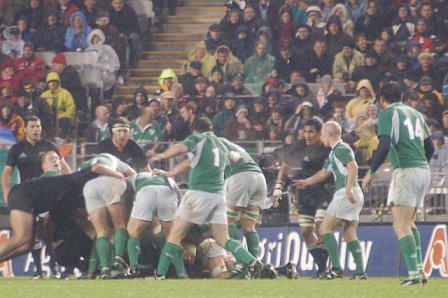 Scrum Down @ Ireland Vs All Blacks - Eden Park Auckland