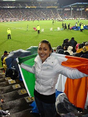 Selena @ Ireland Vs All Blacks - Eden Park Auckland