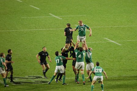 Line-Out @ Ireland Vs All Blacks - Eden Park Auckland