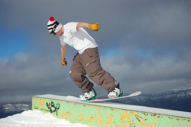 Marcel plants a solid as nose press @ Mt Buller Park