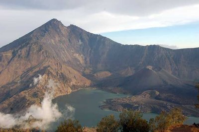 Crater Lake of Mt Rinjani - Lombok