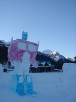 Octomus Prime Snow Sculpture
