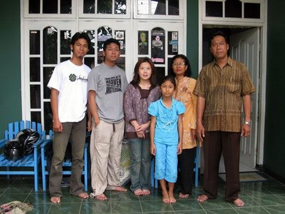Family of Wayhu in the village of Gajah
